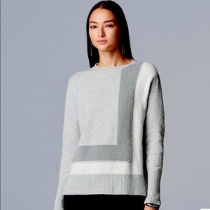 Vera Wang Crew Color Block Sweater